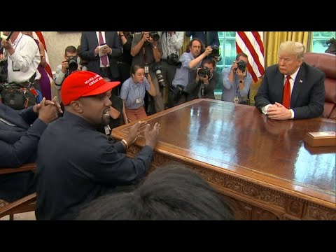 Kanye West visits Trump in Oval Office at the White House