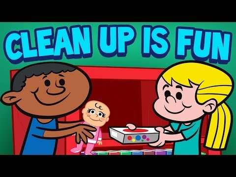 Clean Up is Fun - Children's Cleaning Song - Kids Songs by The Learning Station