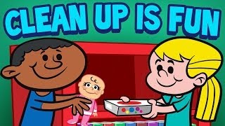 "Clean up is fun, a popular cleaning song for children. it makes fun kids! from the cd, ""play to rest"" play rest cd download: http://..."