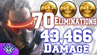 Grand Master Overwatch Carry w/ Soldier 76 (43,466 Damage-48 Objective Kills)