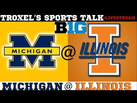 NCAA Men's Basketball Michigan Wolverines VS Illinois Fighting Illini Game Audio/Scoreboard Only