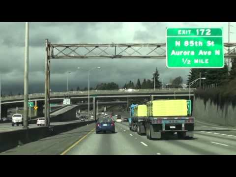 Interstate 5 Washington,Exit170 171 Seattle, WA 美國