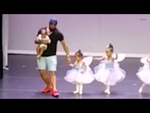 Devoted Dad Dances With 2-Year-Old Daughter To Ease Her Stage Fright