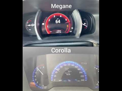 Renault Megane 1.3 TCe 140 HP VS Toyota Corolla 1.6 132 HP
