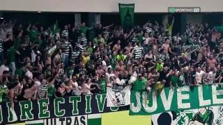 Sporting Clube de Portugal Handball (ANDEBOL) players celebrate championship with fans