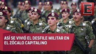 Desfile militar por el 208 aniversario de la Independencia de México