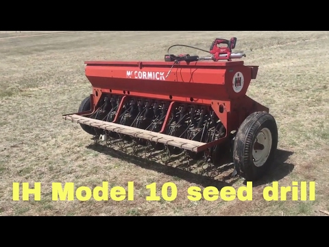 The IH Model 10 seed drill