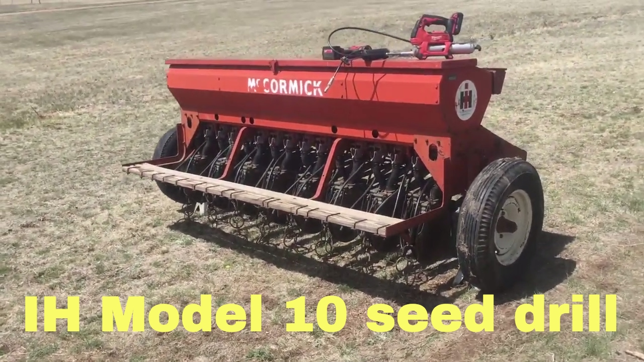 the ih model 10 seed drill youtube rh youtube com International Harvester Grain Drill Parts McCormick Grain Drill Model 10