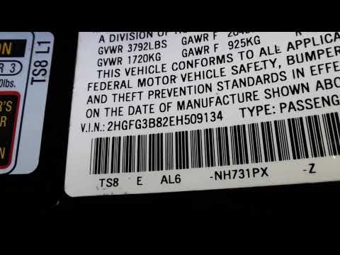 Honda Civic Paint Code