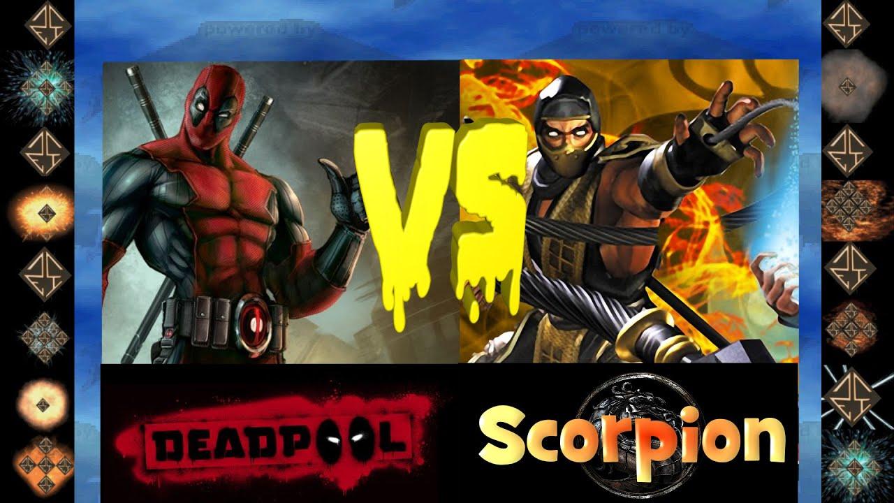 deadpool marvel comics vs scorpion mortal kombat