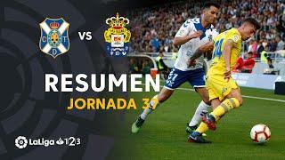 Resumen de CD Tenerife vs UD Las Palmas (2-1)