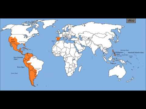 Map of Spanish Empire (1492-1977)