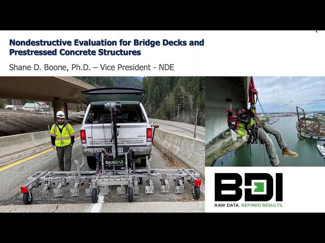Webinar: Nondestructive Evaluation for Bridge Decks and Prestressed Concrete Structures