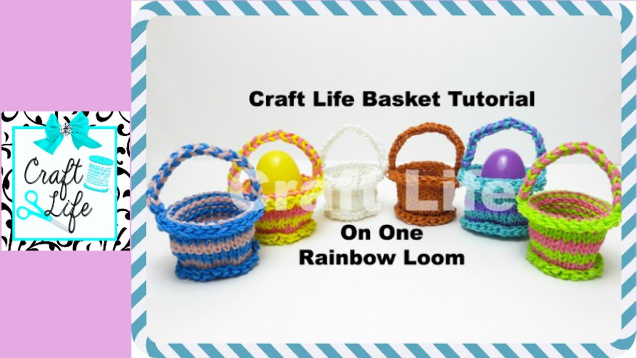 How To Make The Basket Weave Rainbow Loom : Craft life basket tutorial on one rainbow loom