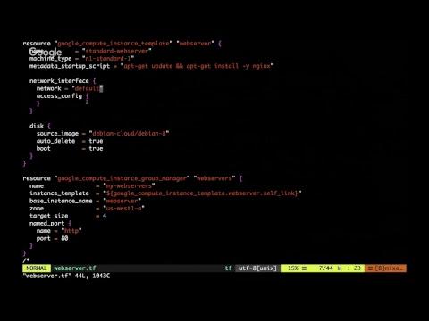 Google Cloud Platform Online Meetup #33: Using Terraform with GCP