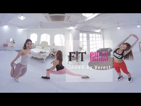 [360 VR of First-person View] Fit girls Training