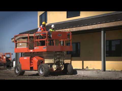 Upgraded Rough Terrain Scissor Lifts Power Through Rugged Job Sites : JLG