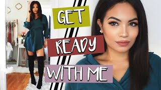 Holiday Get Ready With Me | HOLIDAY MAKEUP & HAIR | Belinda Selene