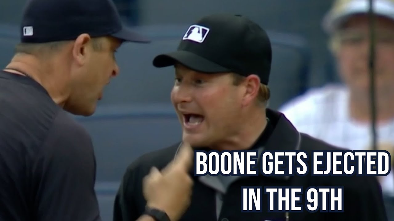 Boone disagrees with the Ump and gets ejected, a breakdown
