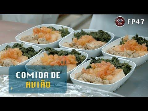 Saiba a origem da comida servida nos aviões. Vídeo