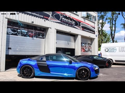 Towie S Dan Osbourne Gets His Audi R8 Wrapped Chrome Blue