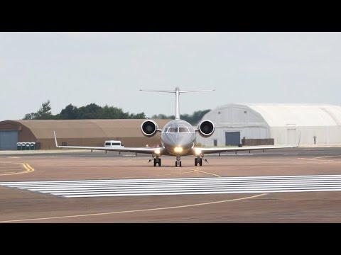 Canadair Challenger 601-3A Czech Air Force departure on Wednesday RIAT 2014