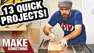 13 easy woodworking projects you can make as holiday gifts. Subscribe for weekly woodworking projects: ...