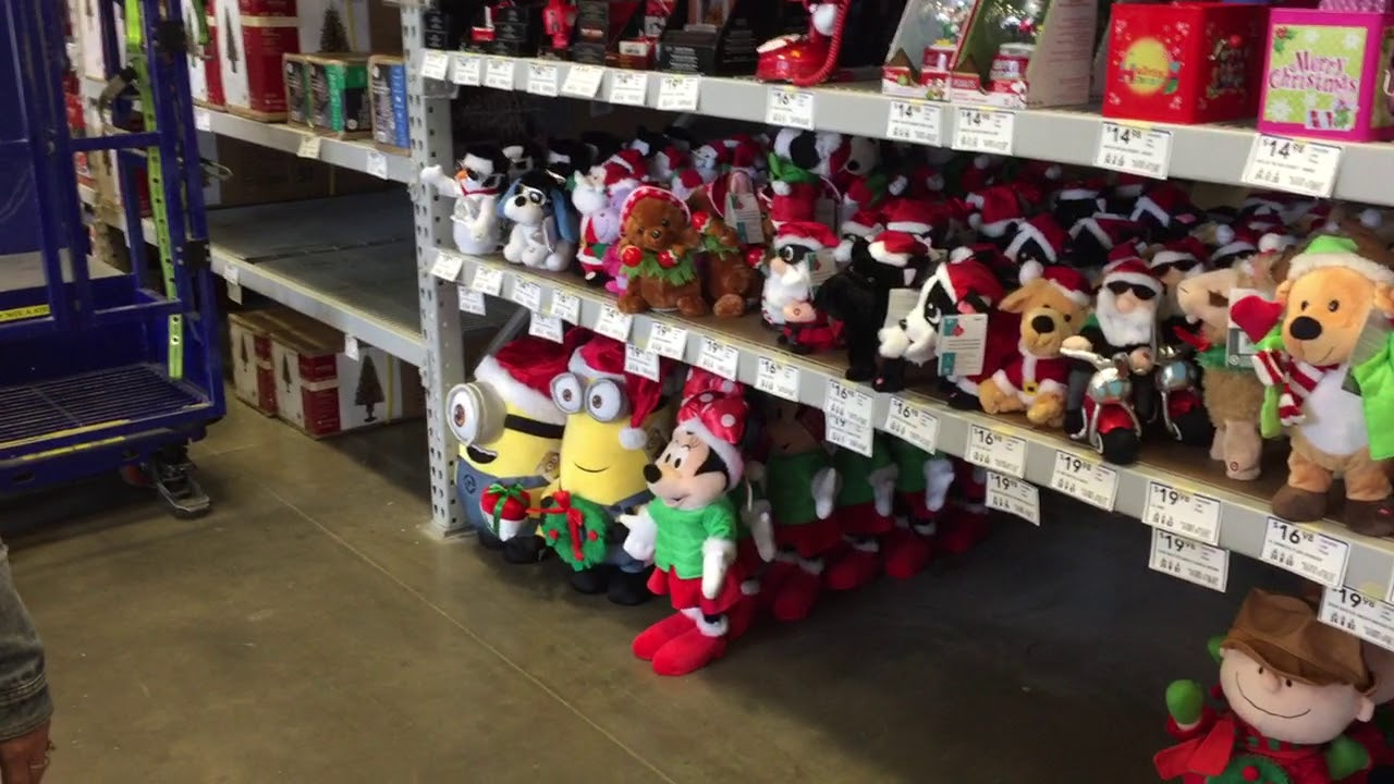 Lowes Christmas.Lowes Store 2017 Christmas Merchandise Disney Blow Molds