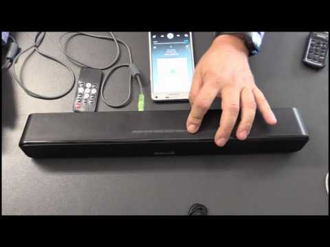 Musikanlage - Mini Soundbar Salute 12W - Bluetooth, USB, AUX,MicroSD