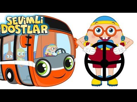 Bak Otobüs Geliyor | Sevimli Dostlar ile Çizgi Film Bebek Şarkıları 2018 | Adisebaba TV