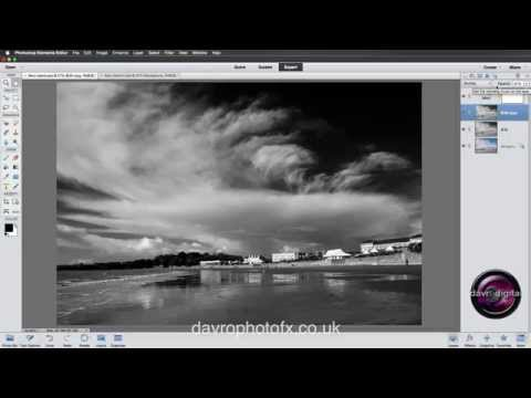how to create a black background in photoshop elements