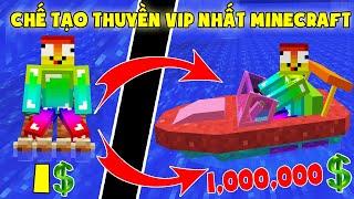 Nếu Noob Sở Hữu Chiếc Thuyền Vip Nhất Trong Minecraft ** Chế Tạo Thuyền 1,000,000 Đô