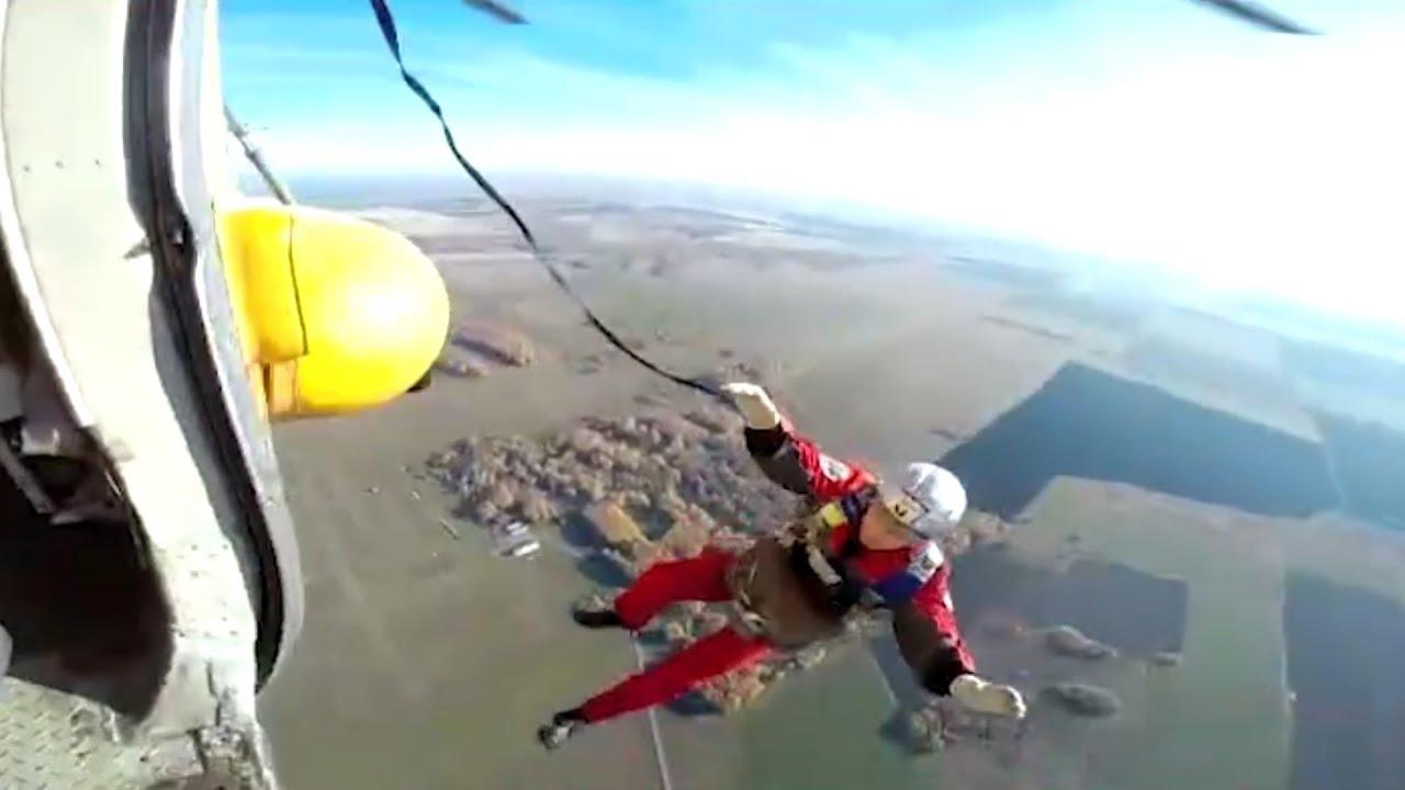 Смертельный прыжок с парашютом Михаила Прохорова. Real video