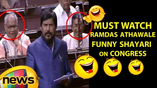 Ramdas Athawale Funny Shayari On Congress Leaders | Lok Sabha | Parliament | Mango News