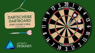 Affinity Designer - Dartboard beginner tutorial - User request [GERMAN]
