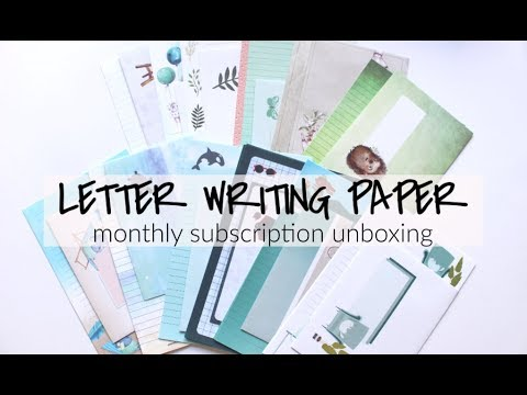 Letter Writing Paper Subscription - Opening May AND June Of  'La Papierre'
