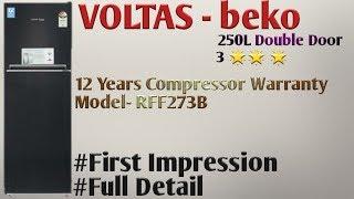 VOLTAS beko 250 Litres 3 star Double Door Refrigerator FullDetails