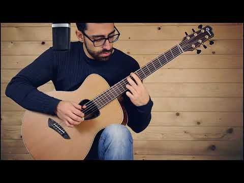 Acoustic guitar with fanned frets, played by Antonio Palumbo