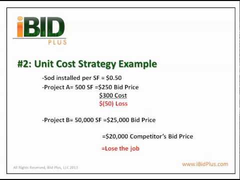 iBid Plus Landscape Bid Series- # 3 Comparing Methods