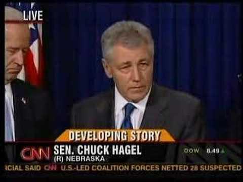 Chuck Hagel Rejects Bush Policy