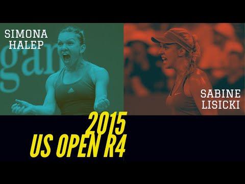 Sabine Lisicki Vs Simona Halep - 2015 US Open R4 Highlights