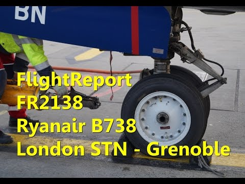 FlightReport : Ryanair FR2138 B738 EI-EBN London Stansted - Grenoble