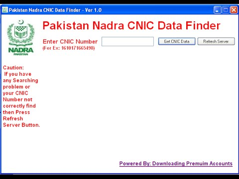 Check online CNIC ID Card verification and detail Bio Data ...