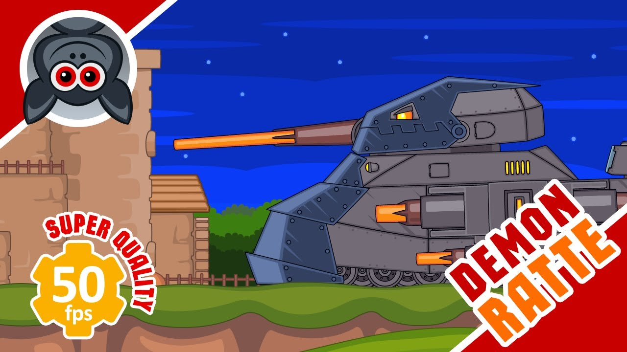 The Fall of Fortress. Ratte Demon. Cartoons About Tanks