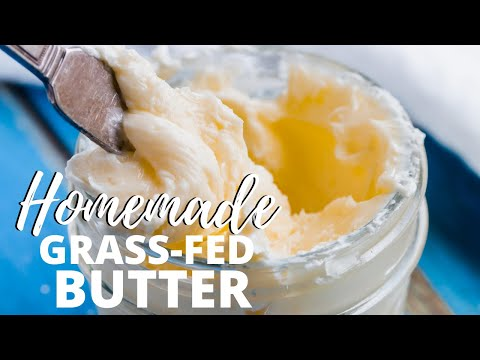 how-to-make-grass-fed-butter-in-a-mason-jar-|-cheapest-way-to-make-butter-in-minutes!