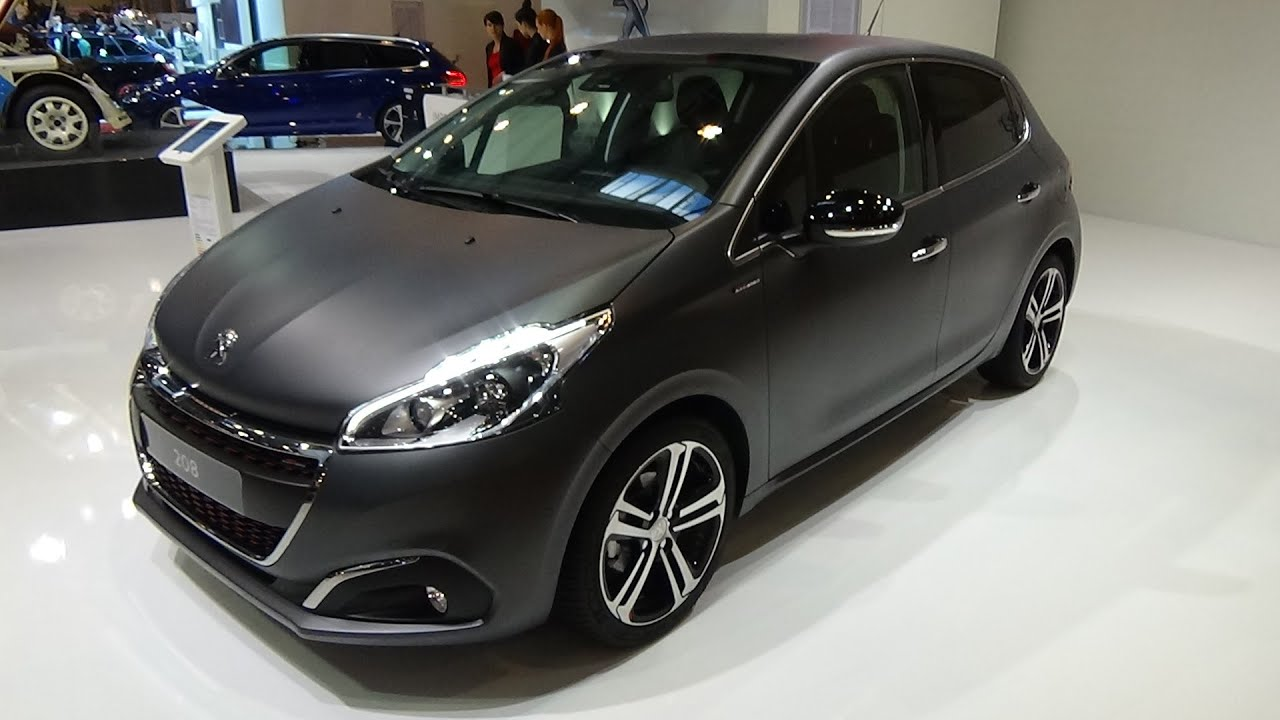 2016 peugeot 208 allure puretech 110 exterior and interior essen motor show 2015 youtube. Black Bedroom Furniture Sets. Home Design Ideas