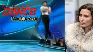 Dancer performs a DOUBLE Axel on TV! Eteri's  blonde straw-wig disintegrated.