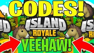 ISLAND ROYALE NEW CODES (ROBLOX) 🐴 HORSES UPDATE!