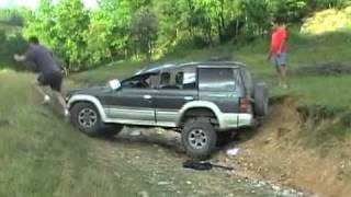 Mitsubishi pajero II (Тест на прочность).flv