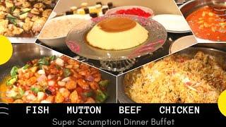 Sasta Dinner Buffet | Soul Kitchen and Cafe | Mutton | Beef | Fish | Mazzay he Mazzay